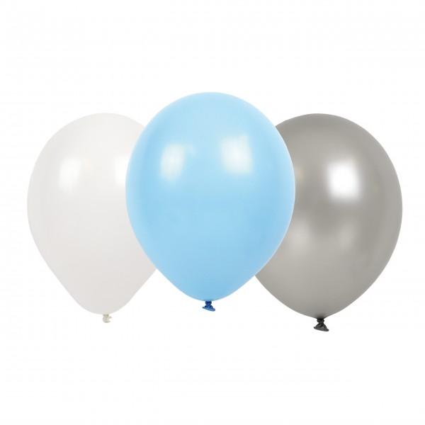 "JaBaDaBaDo Luftballons im 9er Set ""Party"" (Blau/Grau/Weiß)"