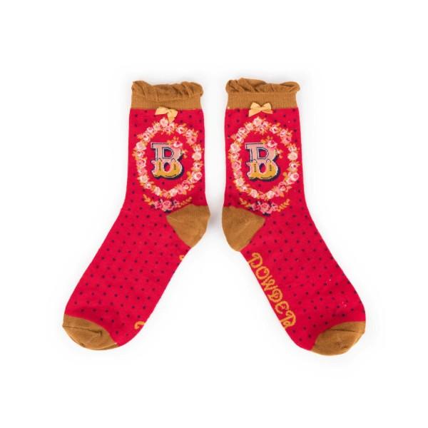 "Powder Damen Socken ""A-Z"" - Buchstabe B"
