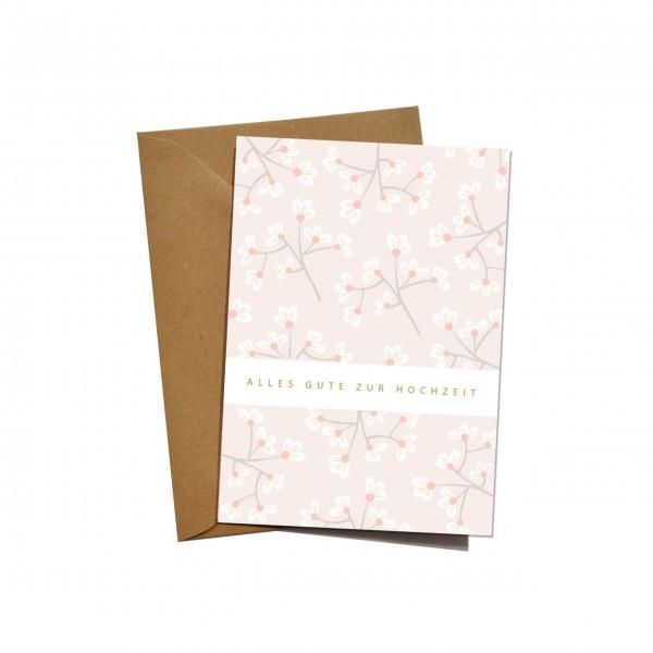 """mimie&joe """"Alles Gute zur Hochzeit"""" - Grußkarte (Blume)"""