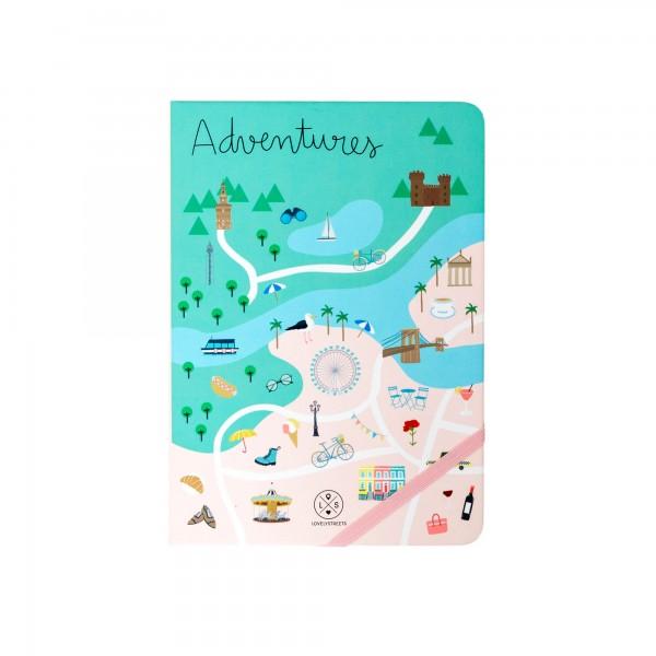 """Notizbuch """"Lovely Streets - Adventures"""" von mr. wonderful*"""