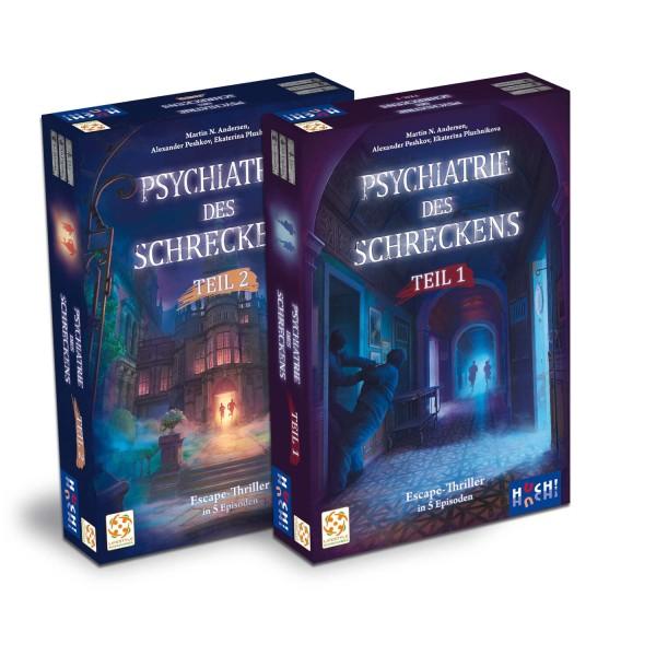 """HUCH! Spiel """"Psychiatrie des Schreckens - Teil 1 + 2 im Sammelschuber"""