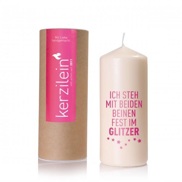 Glitzer regelt alles: Kerze von Kerzilein