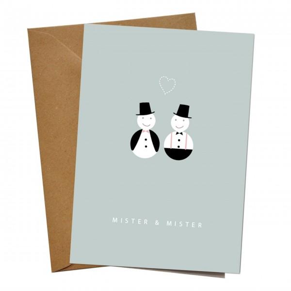 mimie&joe Mister & Mister - Grußkarte