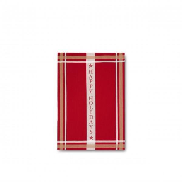 Lexington Geschirrtuch aus Baumwolle - 50x70 cm (Rot/weiß)