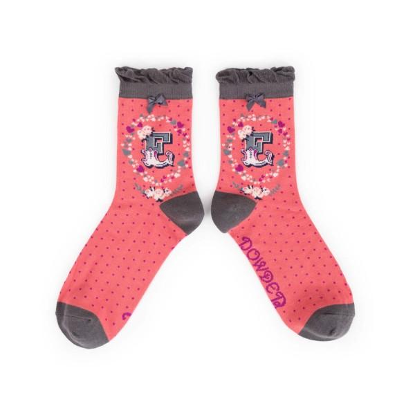"Powder Damen Socken ""A-Z"" - Buchstabe E"