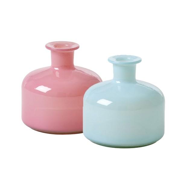 Nostalgische Glasvase von Rice in zwei hübschen Farben