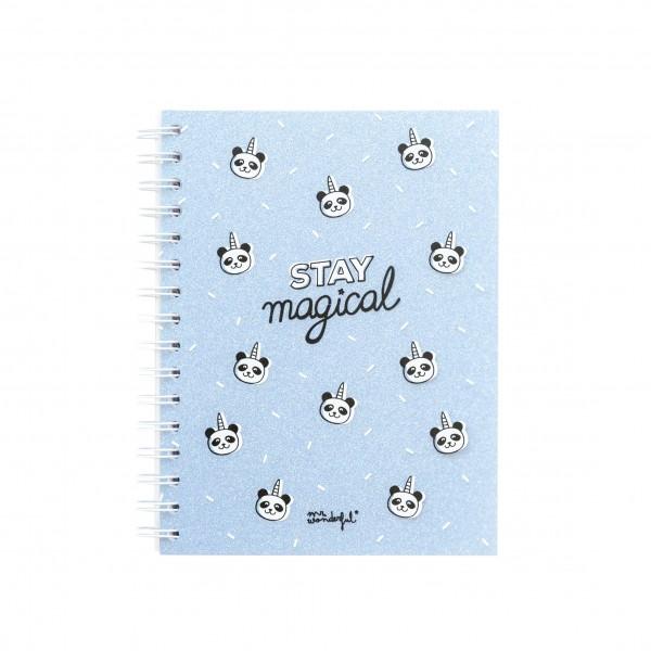 """Kleines Notizbuch """"Stay magical"""" von mr. wonderful*"""