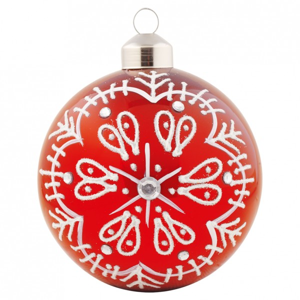 """GreenGate Weihnachtskugel """"Pearls"""" (Red)"""