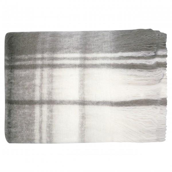 "GreenGate Decke ""Check"" - 125x150cm (Grau)"