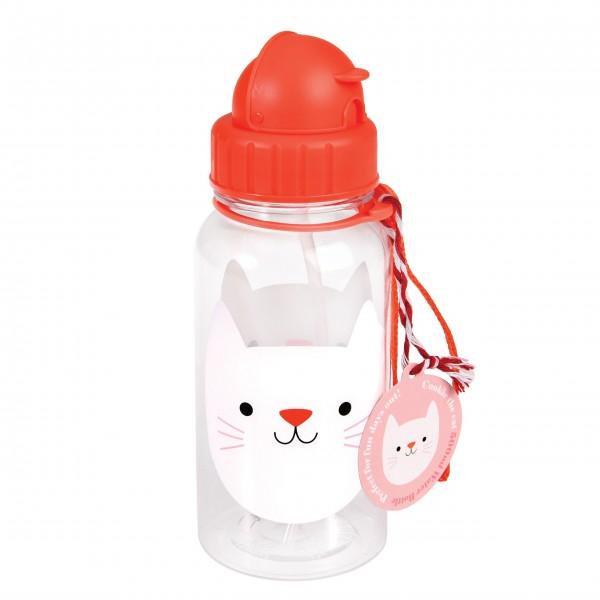 """Trinkflasche für Kinder """"Cookie the Cat"""" (Rosa) von Rex LONDON"""