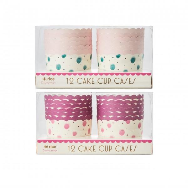 Rice Muffin-Papierbackform im 24er-Set (Pink/Grün)