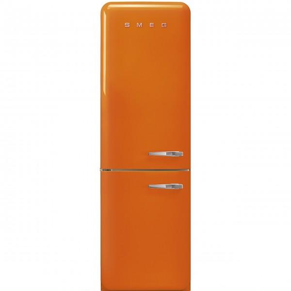 """smeg Kühl-/Gefrierkombination """"50's Retro Style"""" FAB32 mit Türanschlag links (Orange)"""