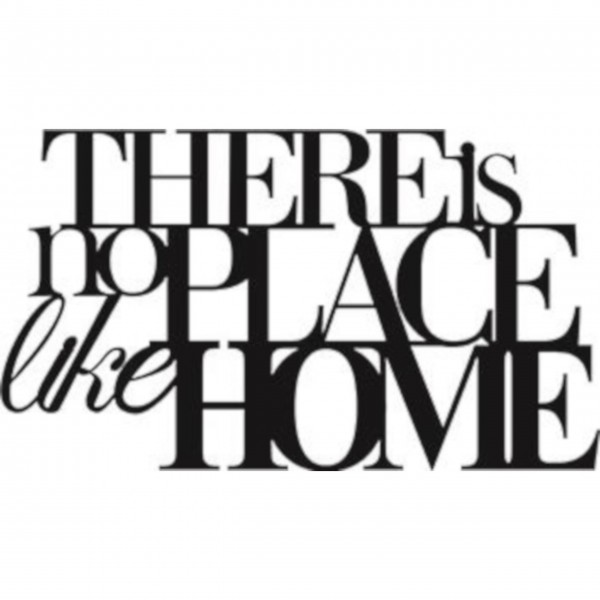 "Wandtattoo ""There is no place like home"" schwarz von räder Design"