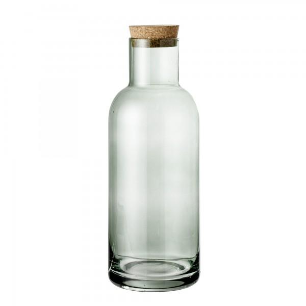 """Bloomingville Glasflasche mit Korkdeckel """"Ragna"""" (Grün)"""