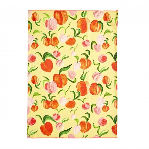 """rice Geschirrtuch aus Baumwolle """"Peach"""" (Apricot)"""