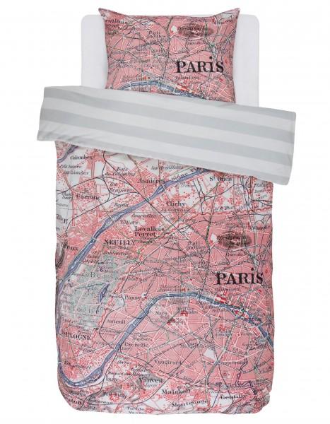 """Wende-Bettwäsche """"Paris Citymap"""" (Multi/Grau-Weiß)"""