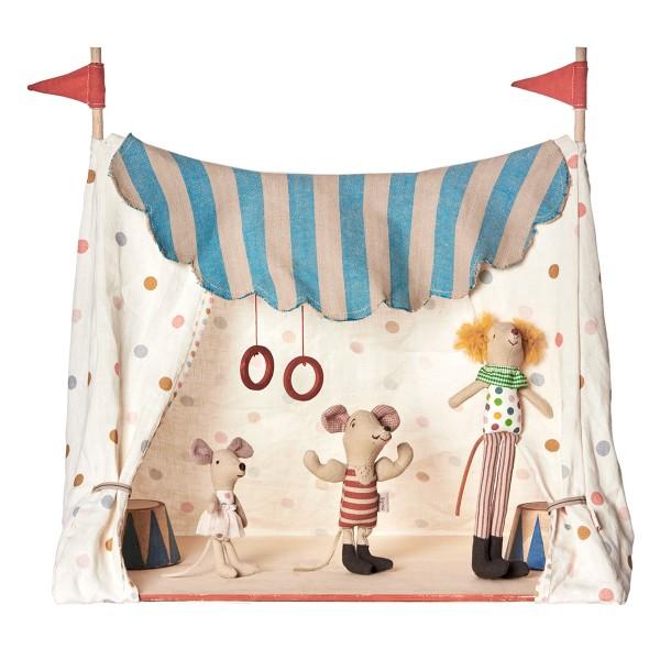 Manege frei: Zirkuszelt mit 3 Zirkusmäusen von Maileg