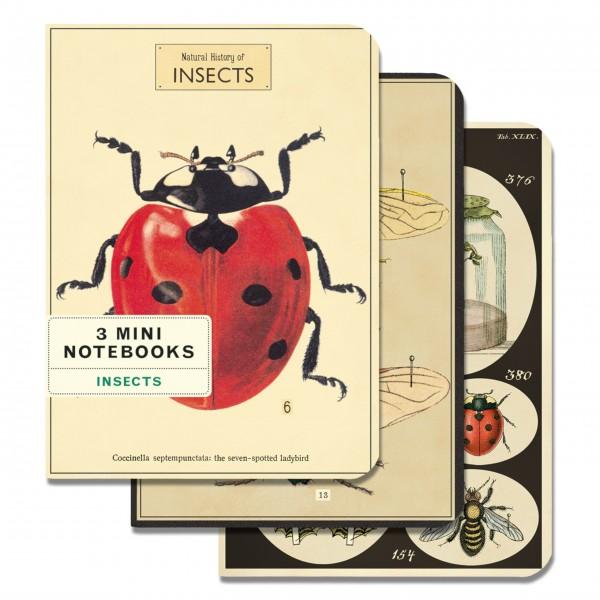 "Cavallini Mini-Notizbücher im Set ""Insects"""