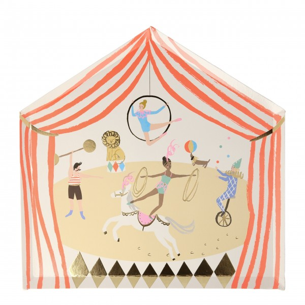 "Pappteller ""Zirkus Parade"" von Meri Meri"