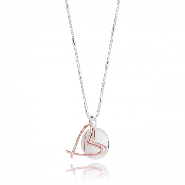"""Halskette """"Alina - Herz"""" (Silber/Roségold) von Joma Jewellery-1"""