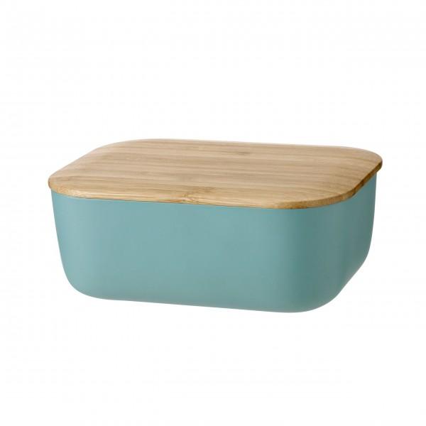 """Stelton Rig-Tig Butterdose """"Box it"""" (Dusty Green)"""