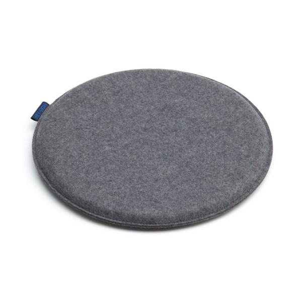 """Filz-Sitzkissen """"Frisbee"""" rund - 35 cm (Grau/Anthrazit) von HEY-SIGN"""