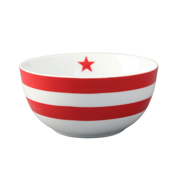 "Krasilnikoff Schale - Happy Bowl ""Stripes"" (Rot)"