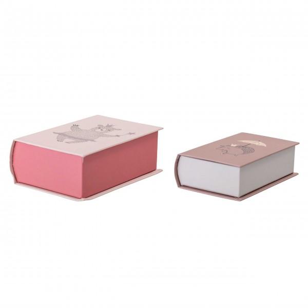 Bloomingville Aufbewahrungsboxen 2er Set (rosa)