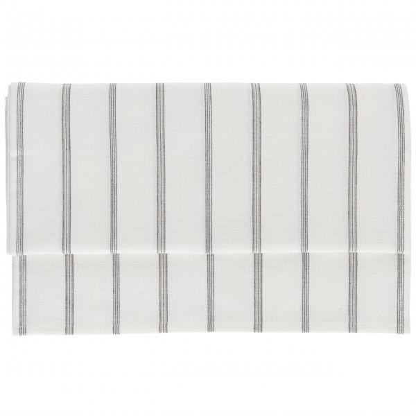 Ib Laursen Tischläufer mit schwarzen Streifen (Weiß/Beige)