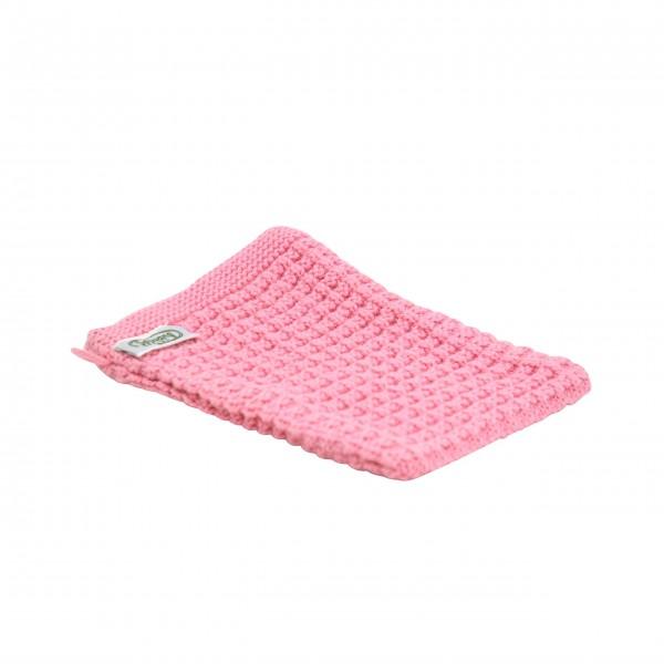 Rosafarbener Waschlappen aus reiner Baumwolle: von Solwang