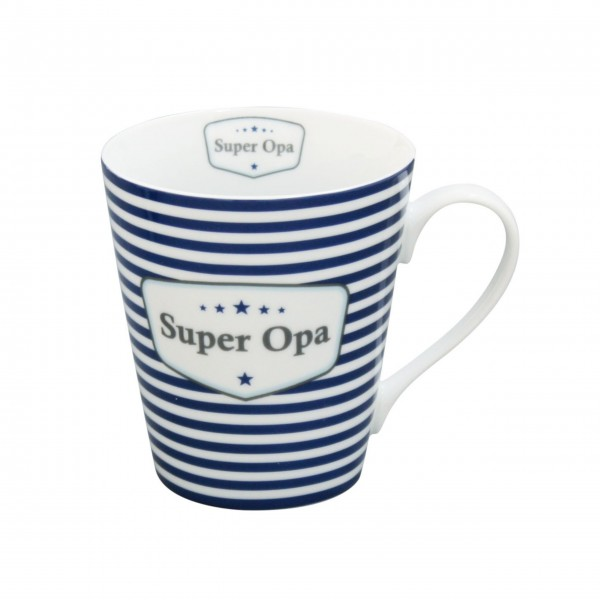 "Krasilnikoff Happy Mug mit Griff ""Super Opa"""