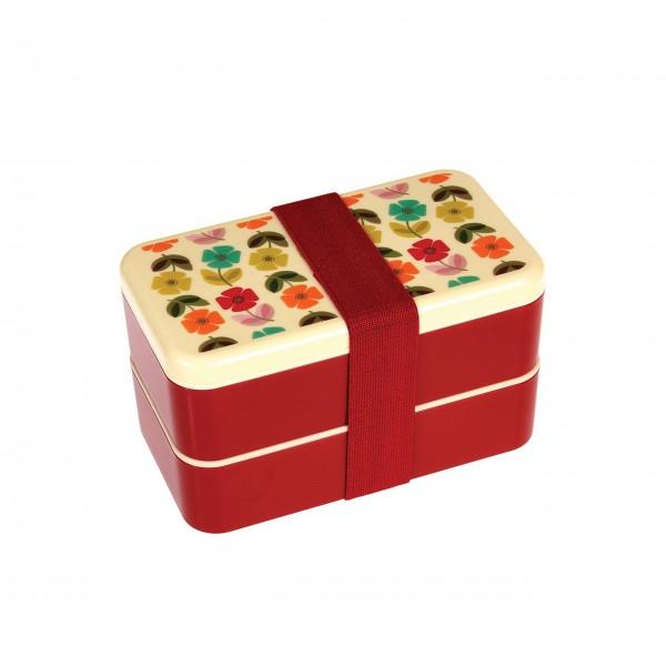 """Große Bento-Box """"Mid Century Poppy"""" von Rex LONDON"""