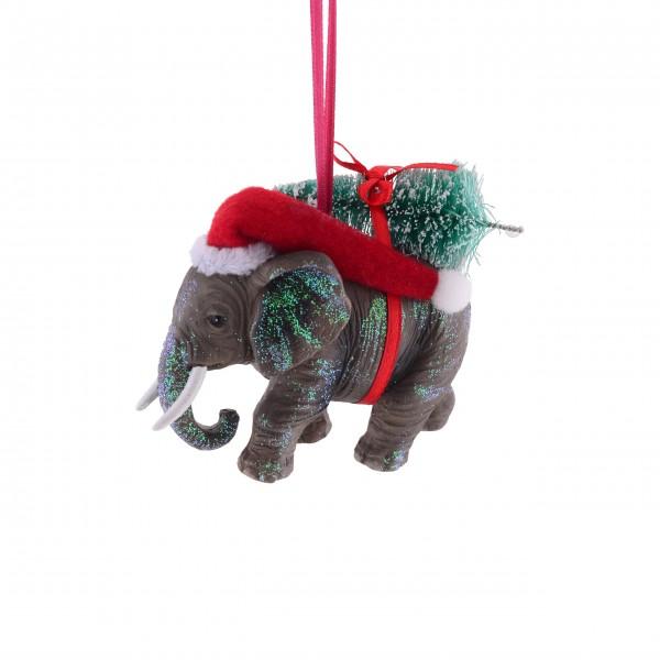 Gift Company Deko-Hänger Elefant mit Weihnachtsbaum