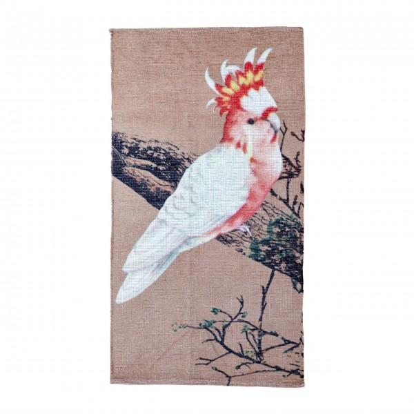 Rice Teppichläufer mit Kakadu-Motiv