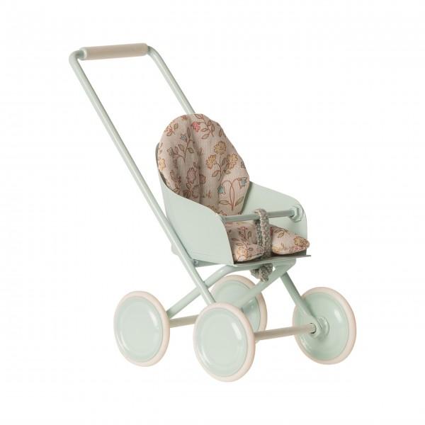 Maileg Kinderwagen - Micro (Mint)