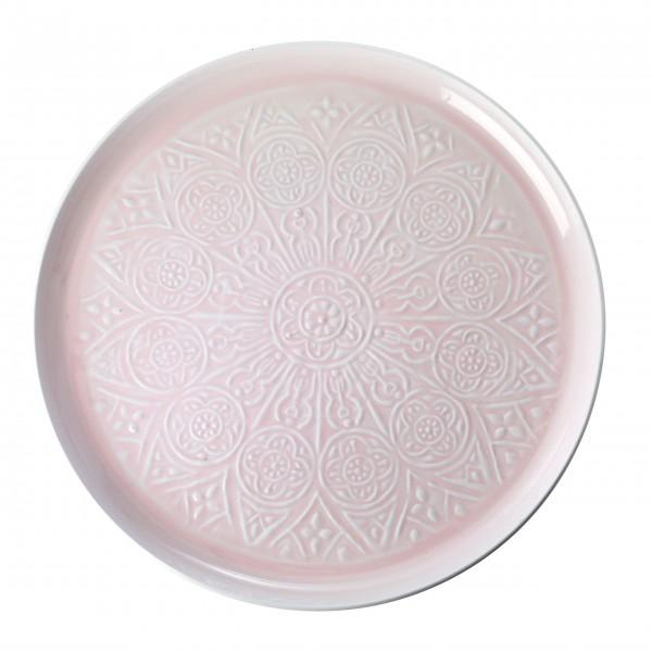 Rice Rundes Tablett aus Metall (Pink)