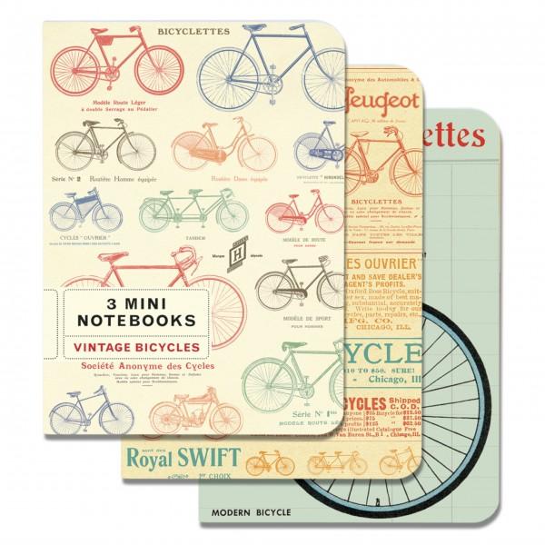 "Cavallini Mini-Notizbücher im Set ""Vintage Bicycles"""