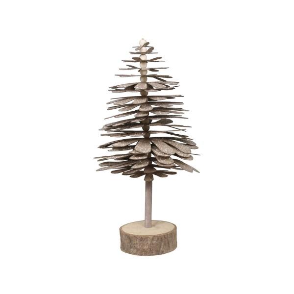 Chic Antique Weihnachtsbaum mit Holzfuß - Groß