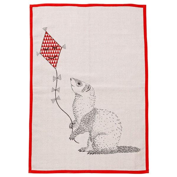 "Bloomingville Kinderteppich ""Otter"" (Rosa/Rot)"