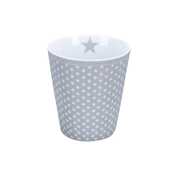 """Krasilnikoff Happy Mug """"Micro Dots"""" (Grey)"""