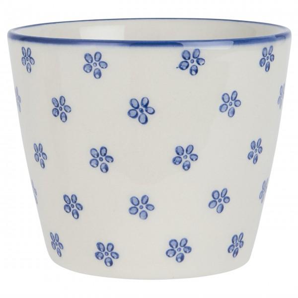 "Ib Laursen Keramikbecher ""Casablanca Bloom"" (Blau)"