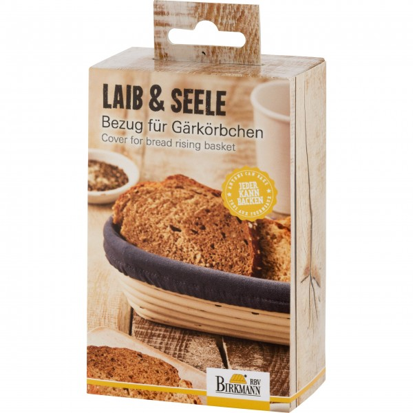 """Birkmann Länglicher Bezug für Gärkörbchen """"Laib & Seele"""" - Schmal"""
