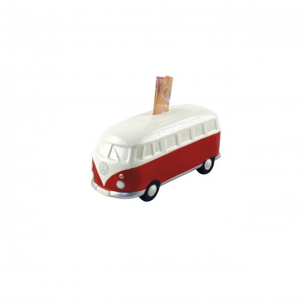 VW Bus Keramikspardose (Rot)