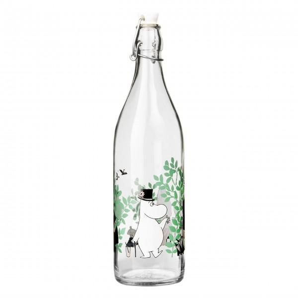 "Glasflasche mit Kappe ""Day in the Garden"" - 1,0l"