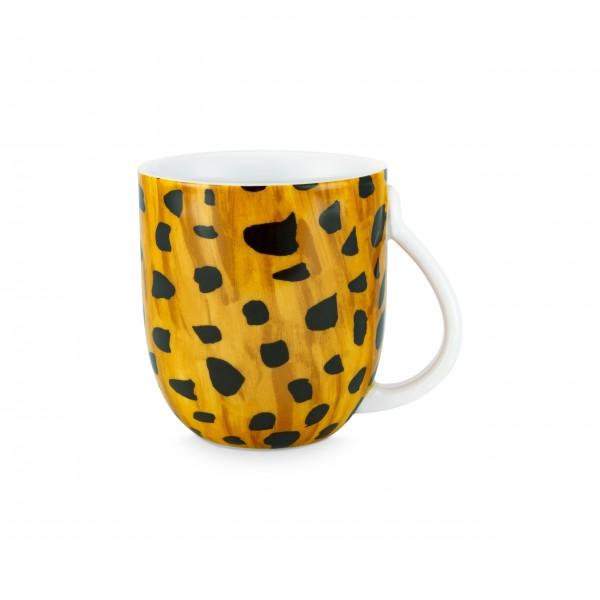 "FABIENNE CHAPOT Große Tasse ""Cheetah Spots"" (Braun/Weiß)"