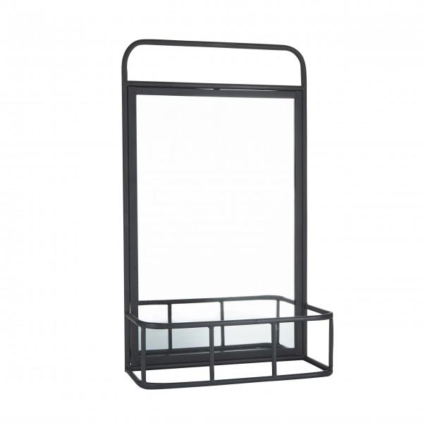Spiegel mit Regal (Schwarz) von Bahne