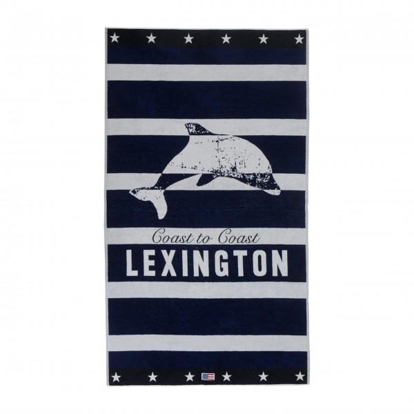 "Lexington Strandhandtuch ""Delfin"" 100x180cm (Blau / Weiß)"