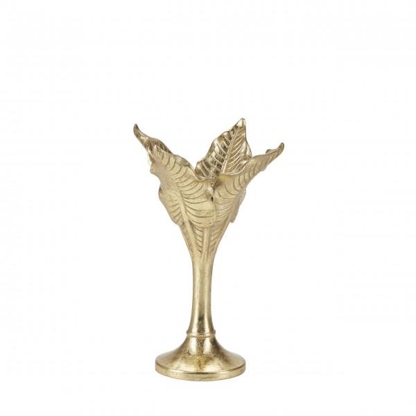 """Kleiner Kerzenständer """"Blätter"""" (Gold) von Bahne"""