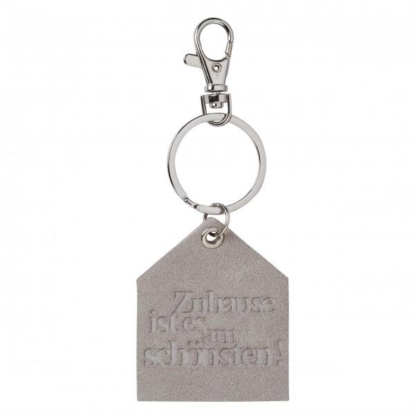 """Schlüsselanhänger """"Haus"""" (Zuhause ist es am schönsten) grau von räder Design"""