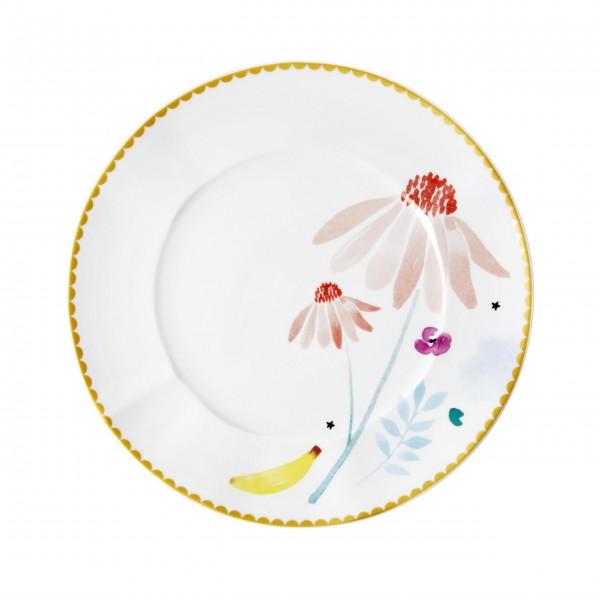 """Rice Porzellan Teller """"Chamomile Print"""" (Weiß)"""